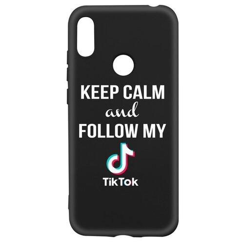 Фото - Чехол-накладка Krutoff Silicone Case TikTok для Huawei Y6 (2019)/ Y6s/ Honor 8A/ 8A Pro/ 8A Prime черный чехол для honor 8a 8a pro g case slim premium book черный