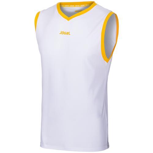 Майка баскетбольная Jogel Jbt-1020-014, белый/желтый (S)