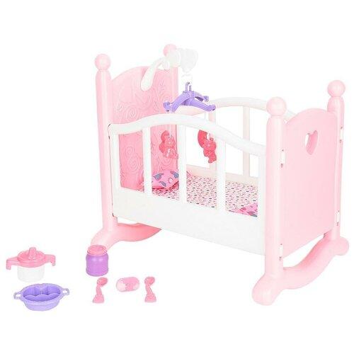 Купить Кукольная кроватка Игруша с аксессуарами i-1603857, Мебель для кукол
