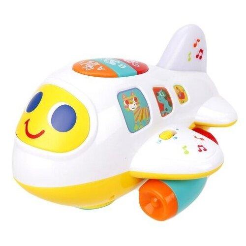 Интерактивная развивающая игрушка Play Smart Расти, малыш Крошка самолет 7724, белый/желтый/зеленый