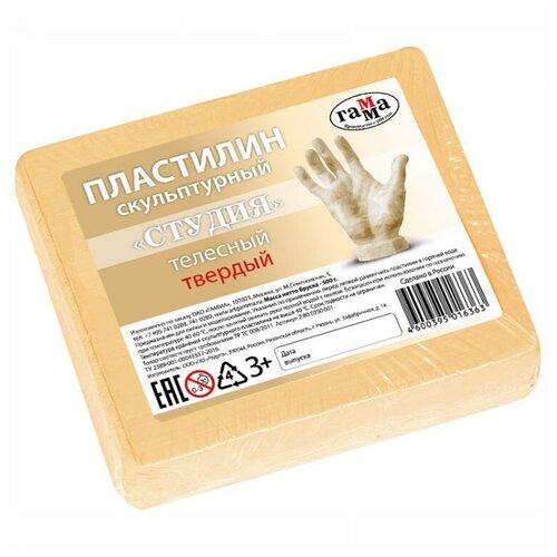 Купить Пластилин ГАММА Студия твердый телесный 500 г (2.80.Е050.001), Пластилин и масса для лепки