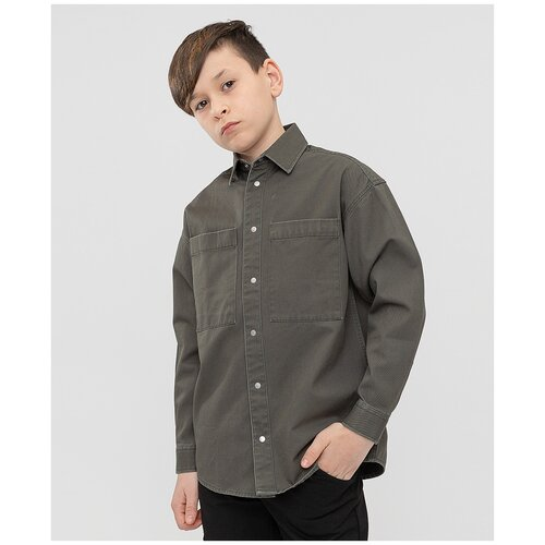 Рубашка Button Blue размер 128, зеленый
