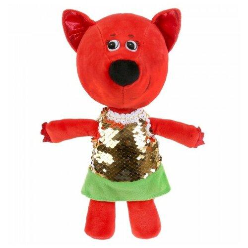 Фото - Мягкая игрушка Мульти-Пульти Ми-ми-мишки Лисичка в платье из пайеток 20 см, без чипа мягкая игрушка мульти пульти ми ми мишки лисичка в ободочке 20 см