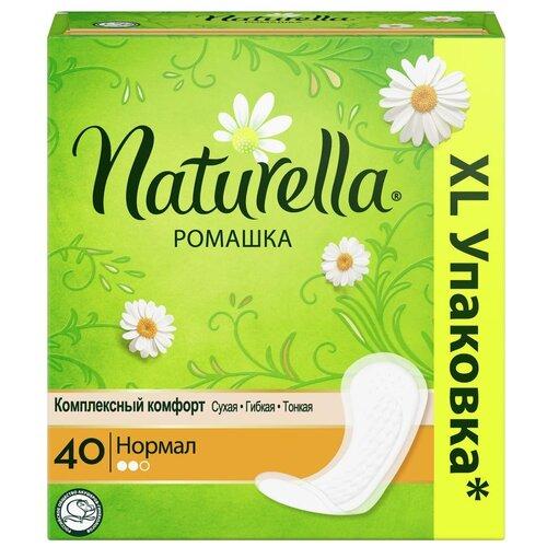 Купить Naturella прокладки ежедневные Camomile Normal, 2 капли, 40 шт.