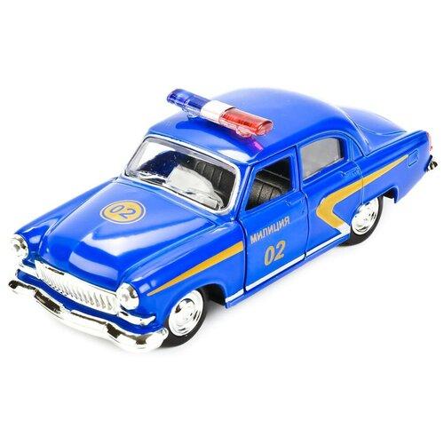Легковой автомобиль ТЕХНОПАРК ГАЗ-21 Волга Милиция (X600-H09040-R) 1:43, синий