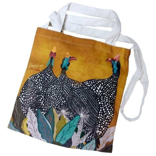 Сумка шопер, полиэстер, разноцветный, холщовая эко-сумка Оланж Ассорти