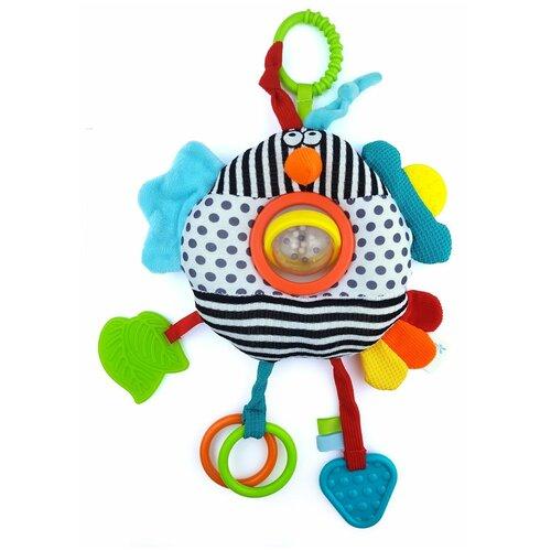 Развивающая игрушка Dolce Птица, разноцветный развивающая игрушка dolce попугайчик бело красно голубой