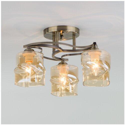 Люстра Eurosvet Brice 30158/3, E27, 120 Вт, кол-во ламп: 3 шт., цвет арматуры: бронзовый