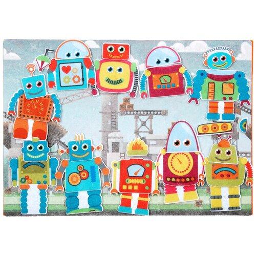 Купить Развивающая игра из фетра на липучках Робот-конструктор , Веселые липучки, Мозаика