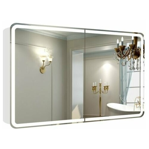 Зеркальный шкаф La Tezza с LED подсветкой, включатель датчик движения, розетка, 1203х800х143 (ШВГ) арт. LT-CM12080-s