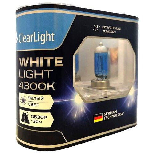 Лампа автомобильная галогенная ClearLight WhiteLight MLH27WL H27 (880) 55W 2 шт.