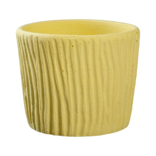 Кашпо Хорошие сувениры резное 10 х 10 х 9 см желтый