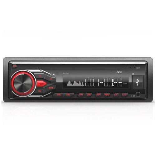 Автомагнитола ACV AVS-1712W/AVS-1712R, черный/красная подсветка видеорегистратор avs vr 802shd черный