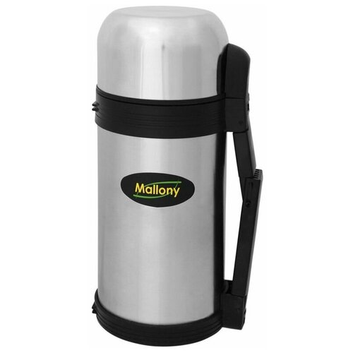 Классический термос Mallony SF-1200A, 1.2 л серебристый