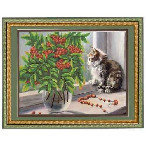Купить Рисунок на ткани «Конёк» 9662 Рябина и котенок, 29x39 см, Наборы для вышивания