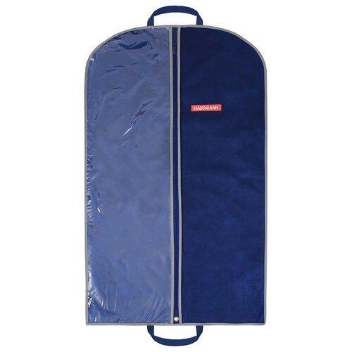 Фото - HAUSMANN Чехол для одежды HM-701002 100x60 см синий hausmann чехол для верхней одежды hm 701403 140x60 см черный