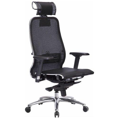 Кресло для руководителя Метта Samurai S-3.04, обивка: текстиль, цвет: сетка черная плюс