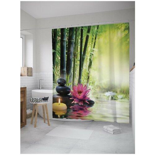 Фото - Штора для ванной JoyArty Медитация в бамбуковом лесу 180х200 (sc-8643) штора для ванной joyarty слон в душе 180х200 sc 8358
