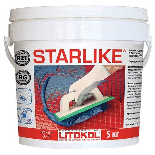 Фото - Затирка Litokol Starlike 5 кг C.490 серо-бежевый затирка litokol starlike defender 1 кг c 490 серо бежевый