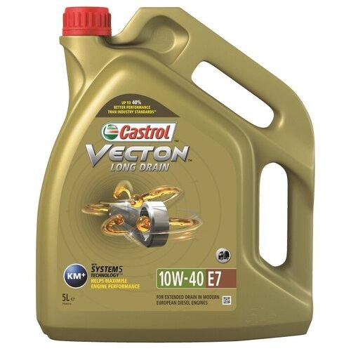 Фото - Синтетическое моторное масло Castrol Vecton Long Drain 10W-40, 5 л полусинтетическое моторное масло castrol vecton 10w 40 7 л