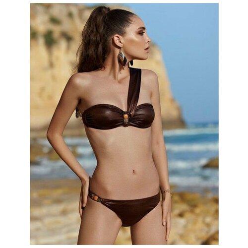 Paphia Оригинальный женский купальник-бандо, коричневый, 40