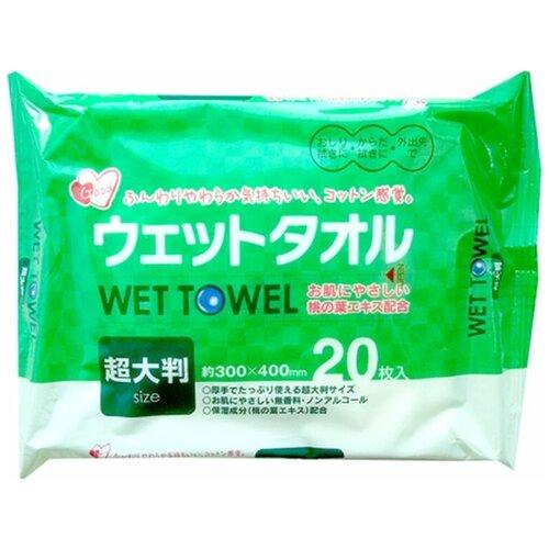 Влажные салфетки Showa Siko дизенфицирующие с экстрактом листьев персика, 20 шт.