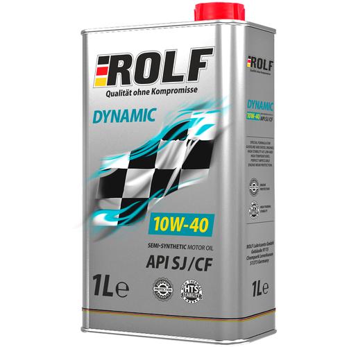 Полусинтетическое моторное масло ROLF Dynamic 10W-40 SJ/CF, 1 л по цене 449