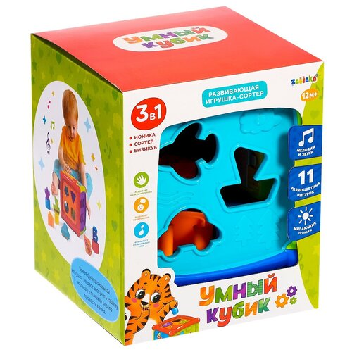 Купить ZABIAKA Развивающая игрушка Умный кубик , SL-02975 световые и звуковые эффекты 4484165, Развивающие игрушки