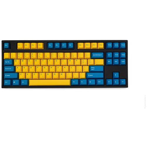 Клавиатура Leopold FC750R PD (желтый/синий, Cherry MX Blue, нет кириллицы)