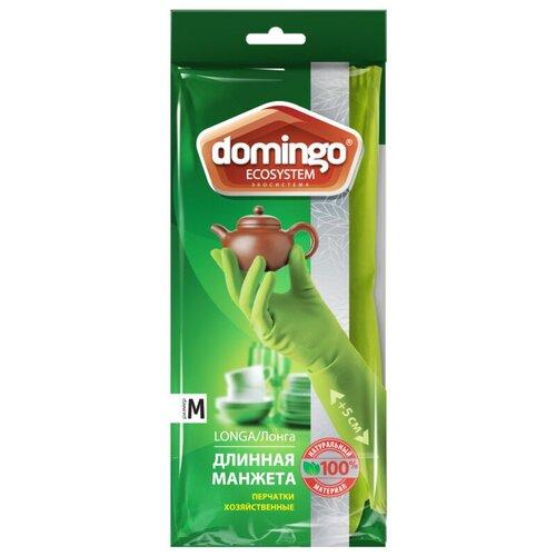 Фото - Перчатки DOMINGO Longa с длинной манжетой, 1 пара, размер M, цвет зеленый перчатки elfe хозяйственные с манжетой 1 пара размер m цвет розовый