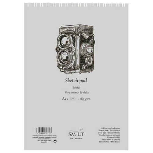 Купить Альбом для эскизов Smiltainis Authentic Bristol 29.7 х 21 см (A4), 185 г/м², 50 л., Альбомы для рисования