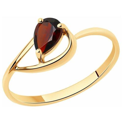 Diamant Кольцо из золота с гранатом 51-310-00971-3, размер 16.5 diamant кольцо из золота с топазом 51 310 00971 1 размер 17