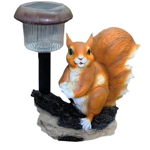 Садовая фигура ТулаСад Белка с орешком под фонарем коричневый/черный садовая фигура белка с шишками 24х14х19см 4870383
