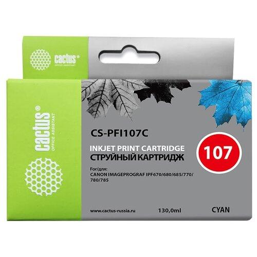 Фото - Картридж cactus CS-PFI107C, совместимый картридж cactus cs pfi102m совместимый