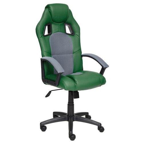 Фото - Компьютерное кресло TetChair Драйвер игровое, обивка: текстиль/искусственная кожа, цвет: зеленый/серый компьютерное кресло tetchair багги обивка текстиль искусственная кожа цвет черный серый