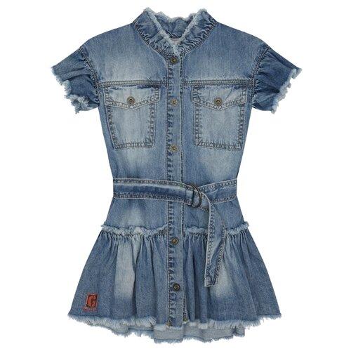 Купить Платье Gulliver размер 122, голубой, Платья и сарафаны