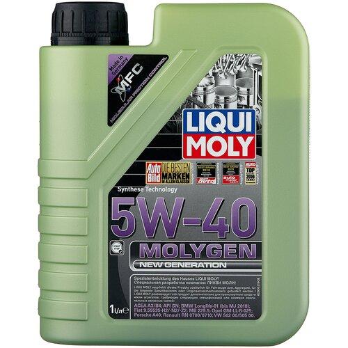 Фото - HC-синтетическое моторное масло LIQUI MOLY Molygen New Generation 5W-40, 1 л моторное масло liqui moly molygen new generation 10w 40 4 л