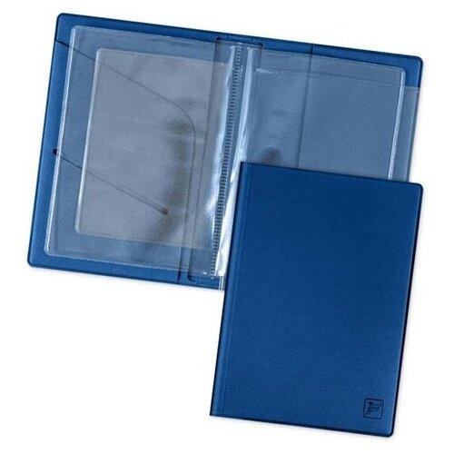Обложка для автодокументов, водительских прав, удостоверения, СТС, ОСАГО / Автодокументница Flexpocket синяя