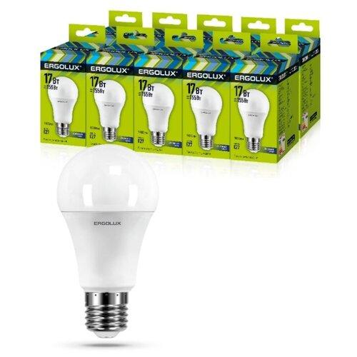 Фото - Светодиодная Лампа Ergolux LED-A60-17W-E27-6K упаковка 10 шт светодиодная лампа ergolux led g45 11w e27 6k упаковка 10 шт