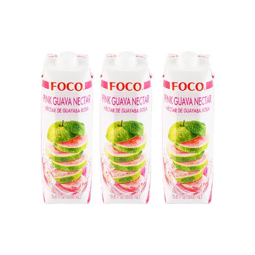 Фото - Нектар FOCO розовая гуава, 1 л, 3 шт. нектар juicer облепиха без сахара 0 25 л 10 шт