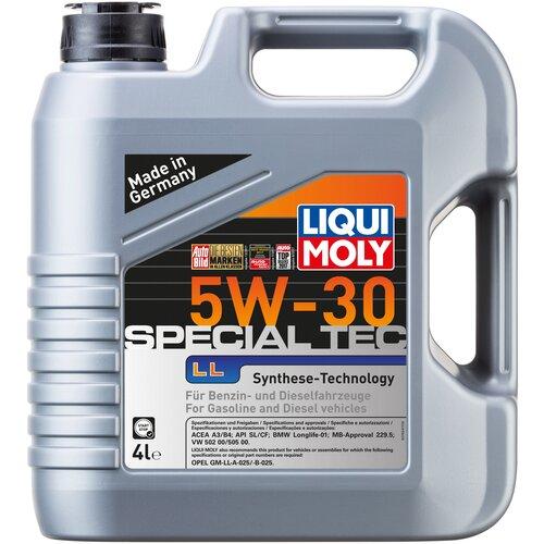 Моторное масло LIQUI MOLY Special Tec LL 5W-30, 4 л