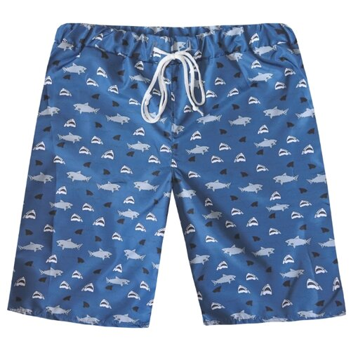 Купить Шорты для плавания KotMarKot размер 128, серый/синий, Белье и пляжная мода