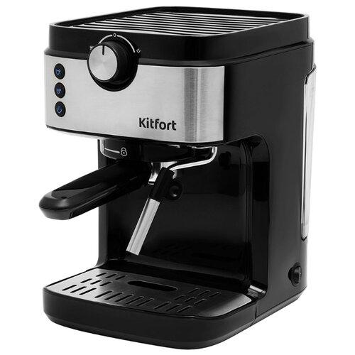 Кофеварка рожковая Kitfort KT-742, черный/нержавеющая сталь