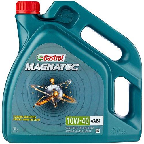 Фото - Полусинтетическое моторное масло Castrol Magnatec 10W-40 А3/В4, 4 л полусинтетическое моторное масло castrol vecton 10w 40 7 л