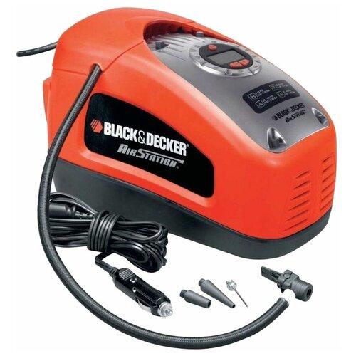 Автомобильный компрессор BLACK+DECKER ASI300-QS черный/красный