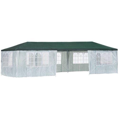 Шатер Green Glade 1070, со стенками, 9 х 3 х 2.5 м белый/зеленый шатер green glade 1032 3 х 3 х 2 5 м синий белый