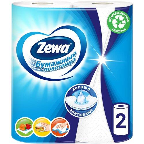 Фото - Полотенца бумажные Zewa белые двухслойные 2 рул. полотенца бумажные zewa premium 2 слоя 2 рулона