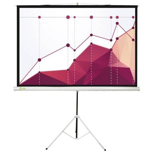 Рулонный матовый белый экран cactus Triscreen CS-PST-180x180