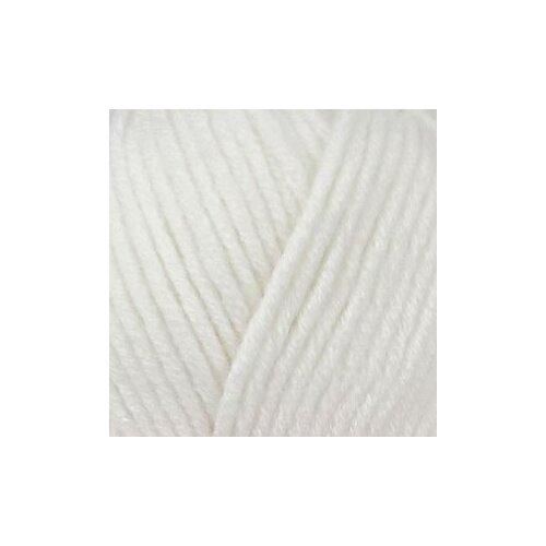 Пряжа для вязания ПЕХ Зимняя премьера (50% мериносовая шерсть, 50% акрил) 10х100г/150м цв.001 белый