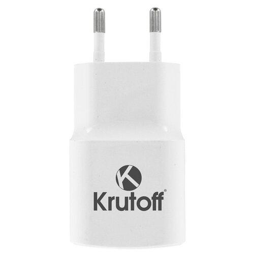 Krutoff / Сетевое зарядное устройство (СЗУ) CH-01C 1xUSB, 1A + кабель USB Type-C (white) зарядное устройство akai ch 6a10 usb c white